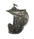 Kildare Irish Ship Pin